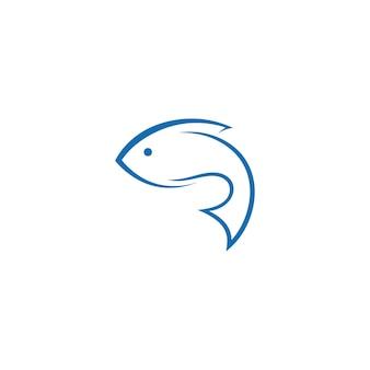 Vecteur de conception d'icône de logo de poisson
