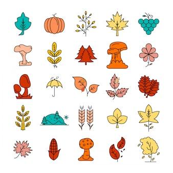 Vecteur de conception d'icônes de feuilles