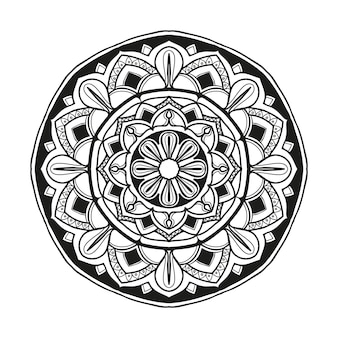 Vecteur de conception illustration fleur mandala