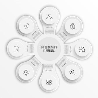 Vecteur de conception infographie