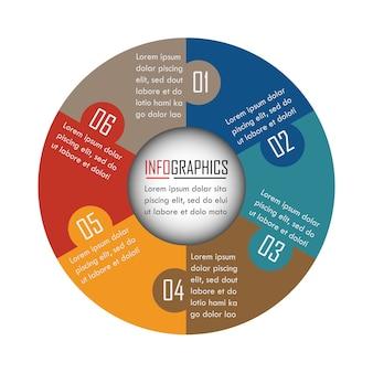 Le vecteur de conception infographique peut être utilisé pour la mise en page du flux de travail