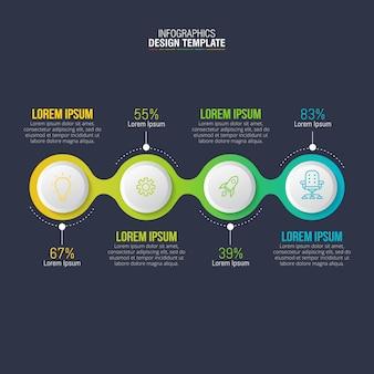 Vecteur de conception infographique pour la visualisation de données d'entreprise