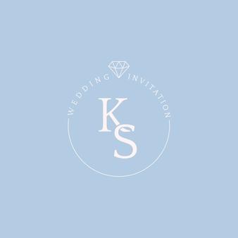 Vecteur de conception insigne mariage invitation