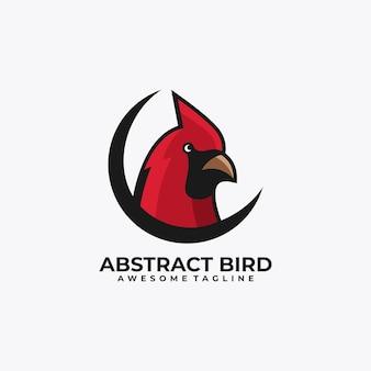 Vecteur de conception de logo abstrait oiseau