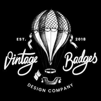 Vecteur de conception de logo ballon vintage