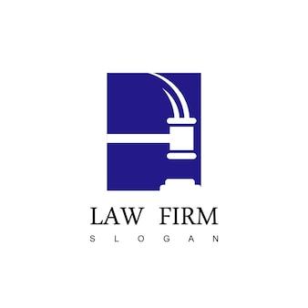 Vecteur de conception de logo de cabinet d'avocats