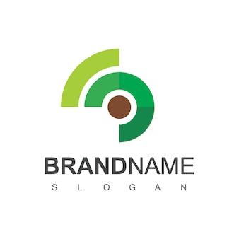 Vecteur de conception de logo caméléon isolé sur fond blanc