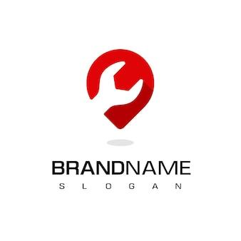 Vecteur de conception de logo de centre de service