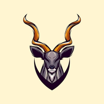 Vecteur de conception de logo de cerf génial