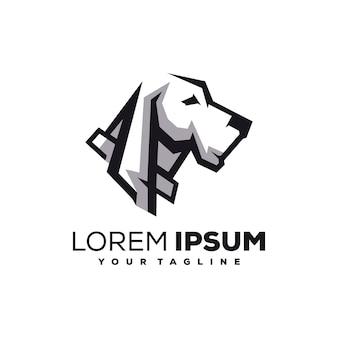 Vecteur de conception de logo de chien