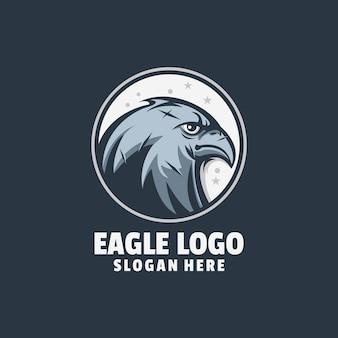Vecteur de conception de logo en colère aigle