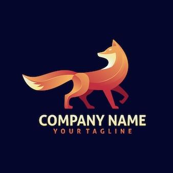 Vecteur de conception de logo coloré fox