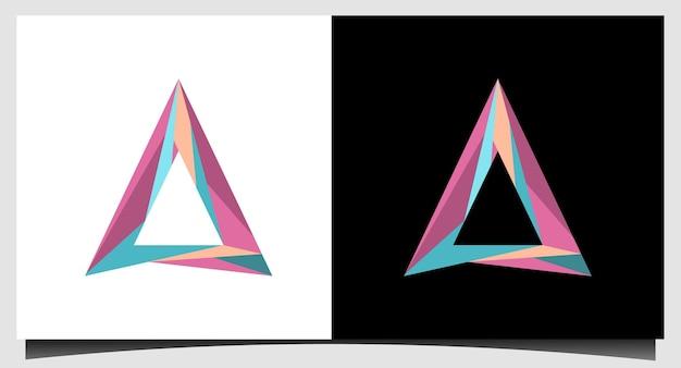 Vecteur de conception de logo coloré triangle