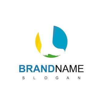 Vecteur de conception de logo de démarrage