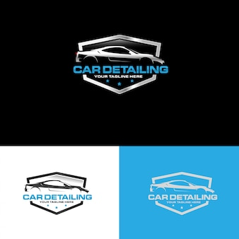 Vecteur de conception de logo détaillant automobile