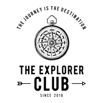 Le vecteur de conception de logo du club de l'explorateur