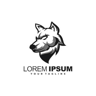 Vecteur de conception de logo e-sport chien animal