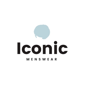 Vecteur de conception logo emblématique de la mode masculine