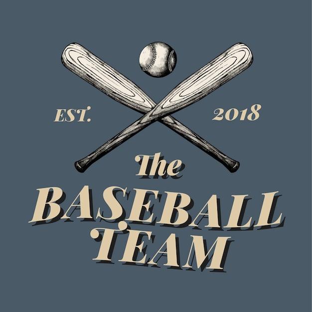 Le vecteur de conception de logo de l'équipe de baseball