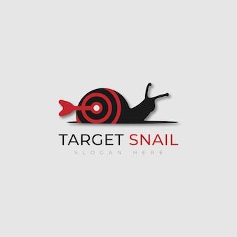 Vecteur de conception de logo d'escargot cible