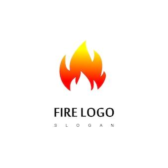 Vecteur de conception de logo de feu