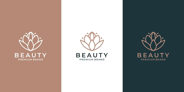 Vecteur de conception de logo de fleur de lotus d'élégance pour votre salon d'affaires, spa, hôtel cosmétique, etc.