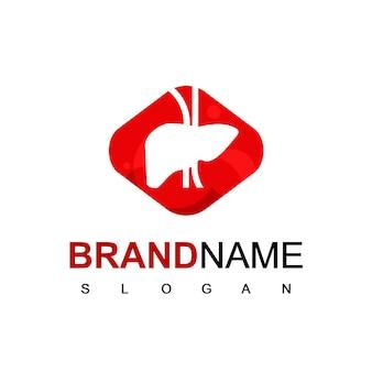 Vecteur de conception de logo de foie de silhouette