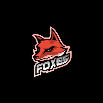 Vecteur de conception de logo fox