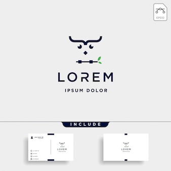 Vecteur de conception de logo hibou de codage