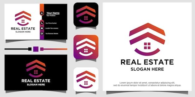Vecteur de conception de logo immobilier maison maison