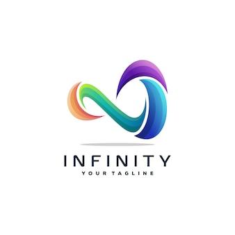 Vecteur de conception de logo impressionnant infini