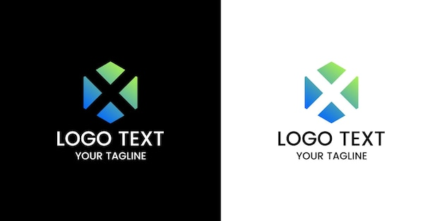 Vecteur de conception de logo lettre x