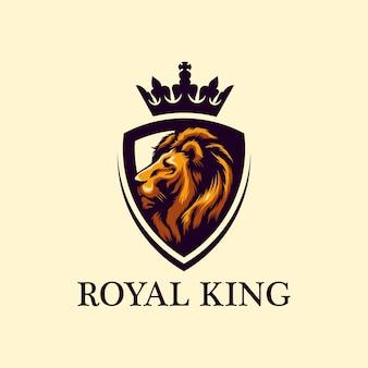 Vecteur de conception de logo lion impressionnant