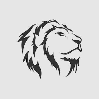 Vecteur de conception de logo de lion