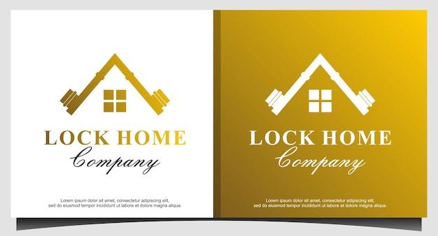Vecteur de conception de logo de luxe immobilier maison