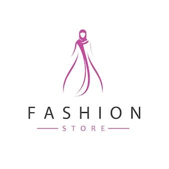 Vecteur de conception de logo de magasin de mode