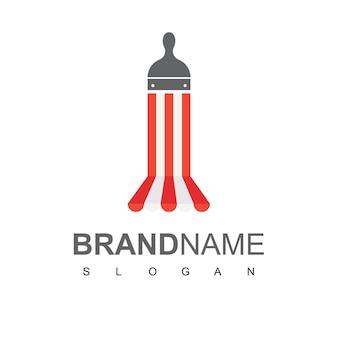 Vecteur de conception de logo de magasin de peinture