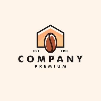 Vecteur de conception de logo maison café maison