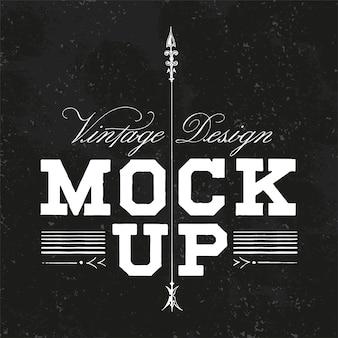 Vecteur de conception de logo de maquette vintage