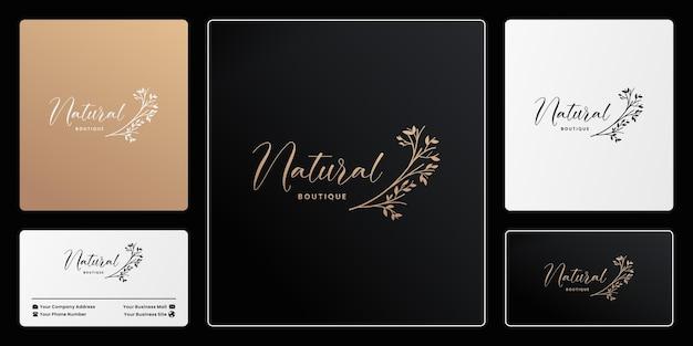 Vecteur de conception de logo de marque naturelle