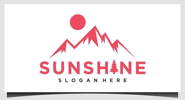 Vecteur de conception de logo de montagne de paysage