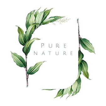 Vecteur de conception de logo nature pure
