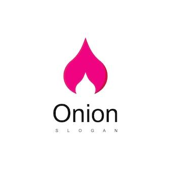 Vecteur de conception de logo d'oignon