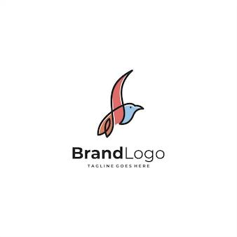 Vecteur de conception de logo oiseau abstrait simple