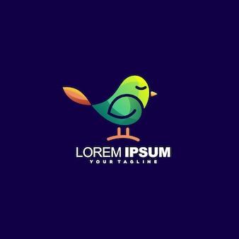 Vecteur de conception de logo oiseau génial