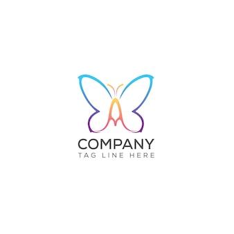 Vecteur de conception de logo papillon