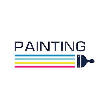 Vecteur De Conception De Logo De Peinture De Maison Vecteur Premium