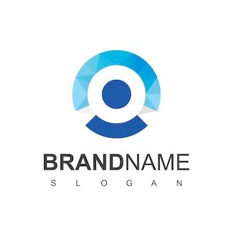 Vecteur de conception de logo de personnes de cercle