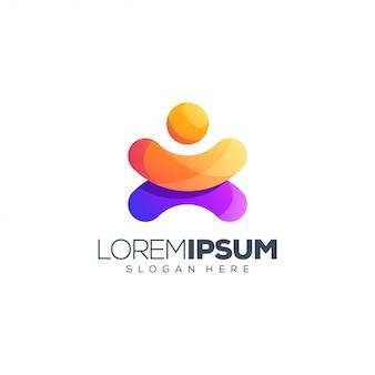 Vecteur de conception de logo de personnes