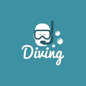 Vecteur de conception de logo de plongée